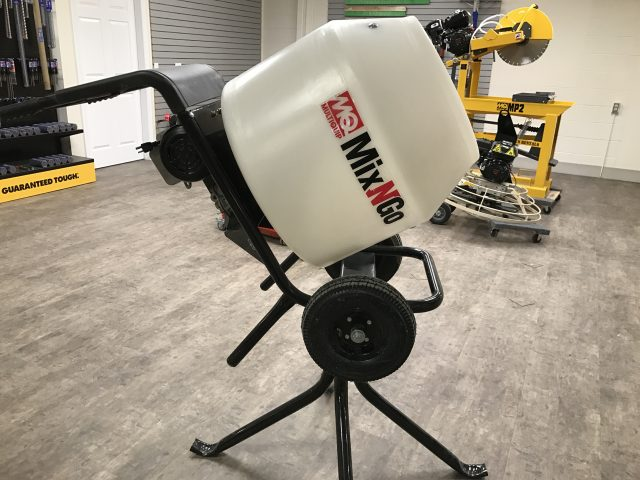 3 Cubic Ft. Electric Poly Drum Mixer