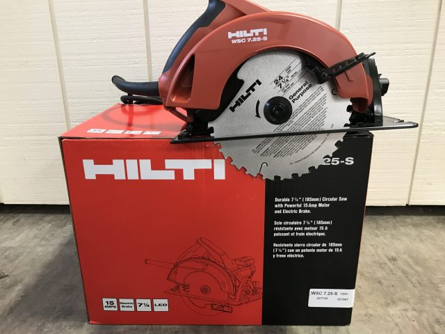 Hilti WSC 7.25-S Circular Saw Add a Hilti to your tool box for a great price! $139.99